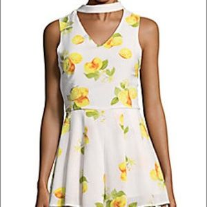 Saks Fifth Avenue Lemon Print Romper